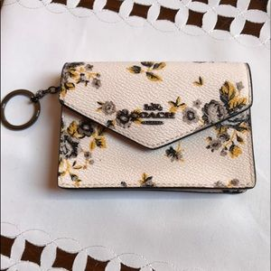 NWOT Coach Mini Leather Keychain Wallet